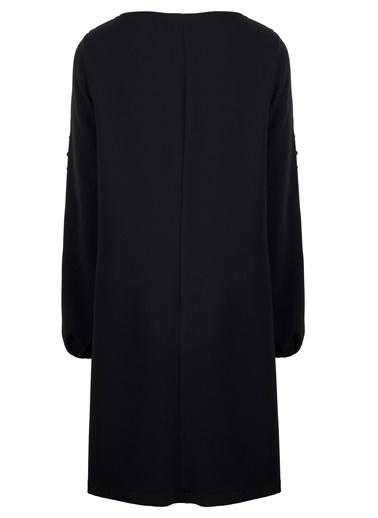Kayık Yaka Uzun Kol Elbise-Vekem